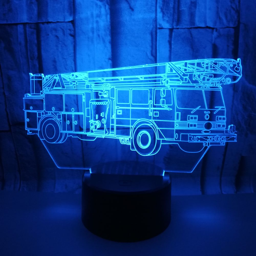 GAOPIN 3D LED USB Cool Fire truck Multicolor Lamp Lighting Cable Decorative Children Bedroom Night Light Friends Gifts Kids ToyGAOPIN 3D LED USB Cool Fire truck Multicolor Lamp Lighting Cable Decorative Children Bedroom Night Light Friends Gifts Kids Toy
