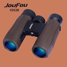 Cheapest prices JouFou 10X26 BAK4 Binocular Power Zoom Porro Prism Coating Waterproof Binoculars Telescope for Hunting Camping