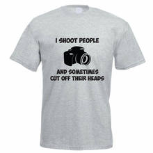 I SHOOT PEOPLE - Camera / Photography / Novelty / Funny Themed Men's T-Shirt Harajuku Tops Fashion Classic Unique t-Shirt gift(China)
