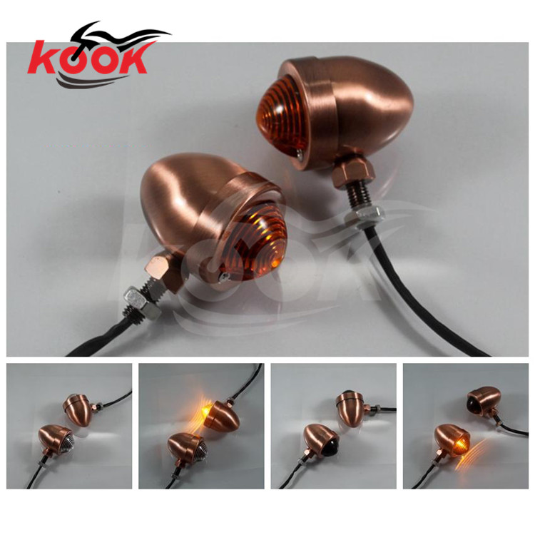 3 colors available lens retro bronze color bullet motorcycle turn signal light for harley parts flashers blinker moto indicator