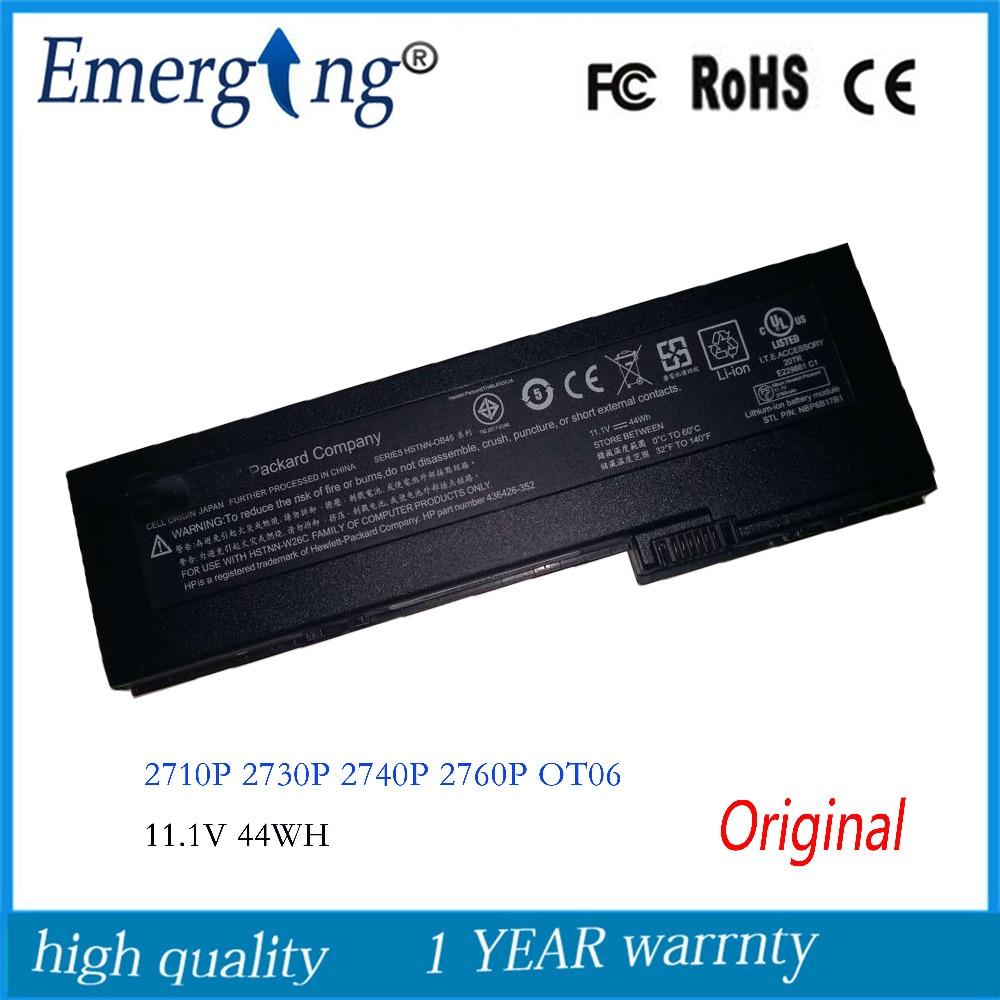 11.1V 44WH New Original Laptop Battery for HP EliteBook  HSTNN-OB45 OT06 2710p 2730 2740p 2760p series HSTNN-XB45 11.1V 44WH New Original Laptop Battery for HP EliteBook  HSTNN-OB45 OT06 2710p 2730 2740p 2760p series HSTNN-XB45