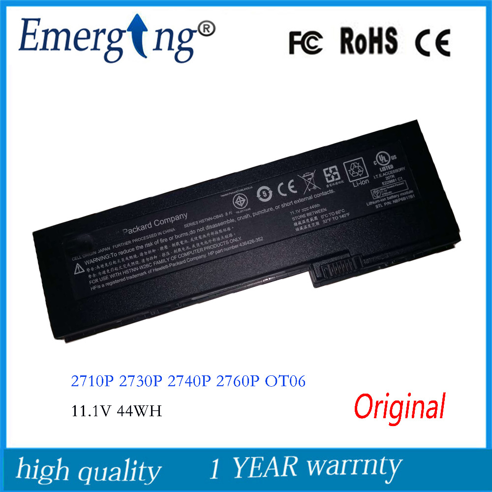 11.1V 44WH New Original Laptop Battery for HP EliteBook HSTNN-OB45 OT06 2710p 2730 2740p 2760p series HSTNN-XB45 sata hard disk drive interposer connector for hp elitebook 2740p 2740 2760p 1 8