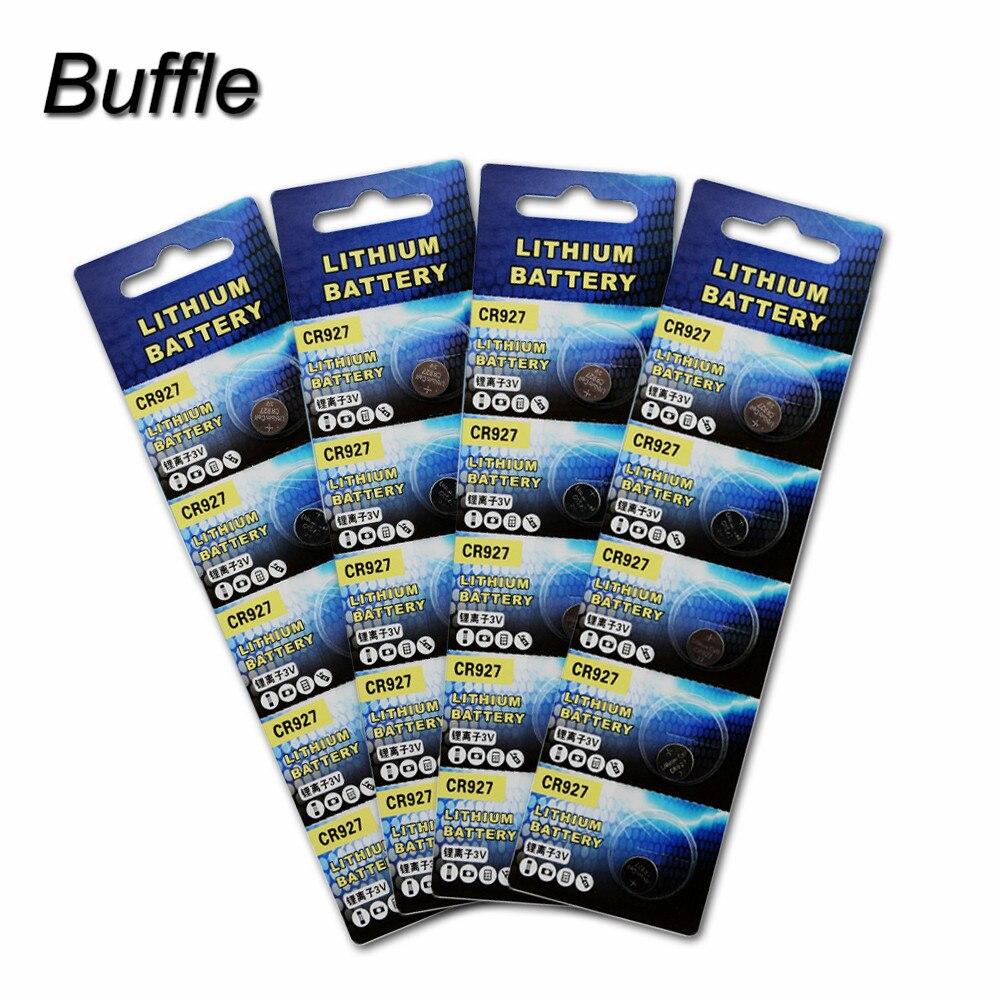 20 pces/4 cartão 3 v cr927 bateria de lítio dl927 br927 ecr927 pilha botão moeda baterias para relógio de brinquedo preço de fábrica atacado