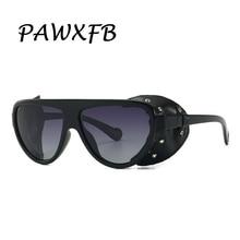 PAWXFB 2019 SteamPunk Sunglasses women men Fashion Accessories Female