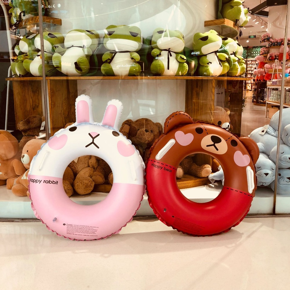 YUYU 2018 Cartoon bear Canny Rabbit Swimming Float baby Inflatable Pool Float Baby Summer Water Fun Pool Toy Kids Swimming ring