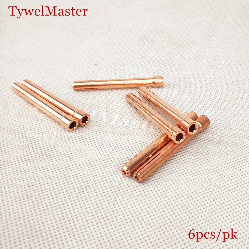 Tungsten Electrode Collet 6pcs Tig Torch Consumables 1.0/1.6/2.0/2.4/3.0/3.2mm Collet For WP17 WP18 WP26 Tig Torch