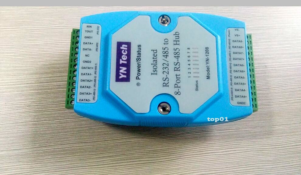 Free Shipping Industrial Isolated Rs-232/rs485 To 8 Port Rs-485 Ethernet Hub Splitter Adam Module Computer Cables & Connectors