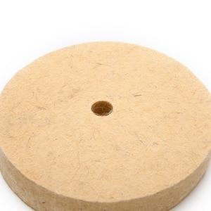 """Image 5 - 4 """"колесо с шерстяного войлока полировка шлифовального круга Полировочный диск Pad роторный инструмент 100*20 мм абразивные инструменты"""