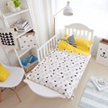 Beddind Set Ins 100% de Algodão do bebê 2 pcs Conjunto de Cama Incluem Folha de Cama Fronha + Capa de Edredon Sem Enchimento Saco de dormir