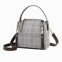 Famous Brand Crossbody Bags for Women Messenger Bags Leather Casual Female Shoulder Bag Luxury Plaid Ladies Hand Bag Bolsos W368