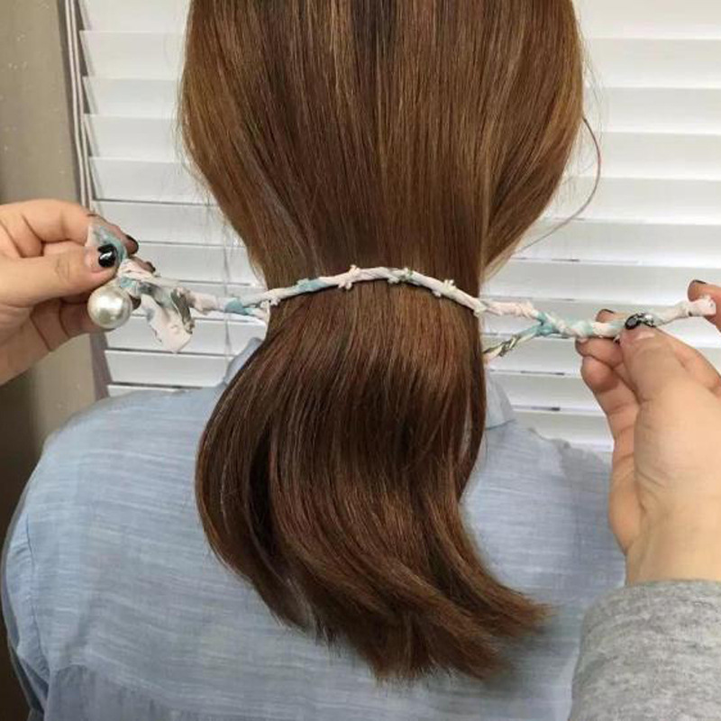 Women Magic DIY Hairstyle Flolar Hair Bun Maker Donut Twist Tool Headband Pompom French Bud Dish Hair Accessories Charm Hairband