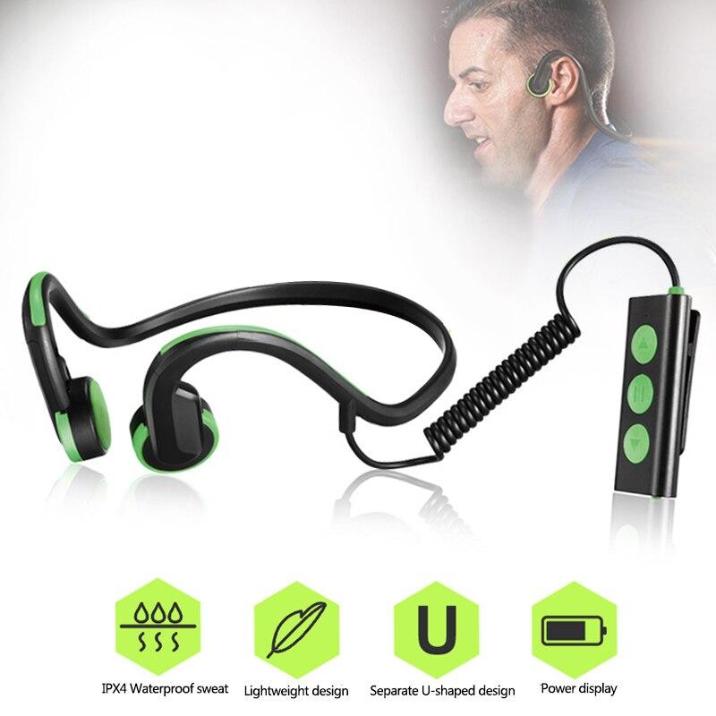 Wireless Bluetooth Bone Conduction Headphone Stereo Sport Headset Hands Free Speaker Mic Waterproof Earphones For iphone Samsung