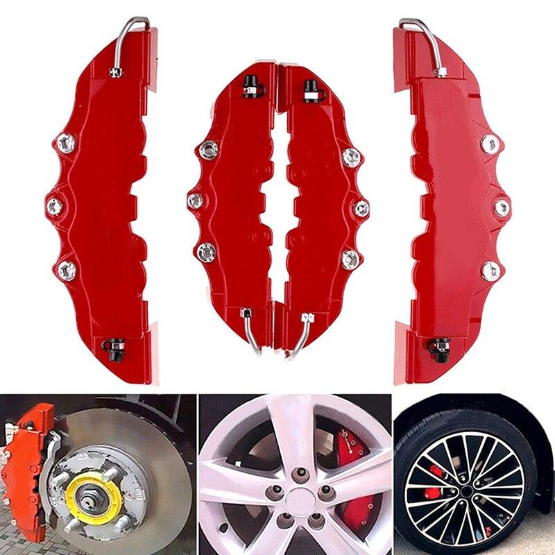 Top qualité ABS plastique 3D voiture réseau utile universel frein de voiture disque frein étrier couvre arrière Auto universel voiture Kit