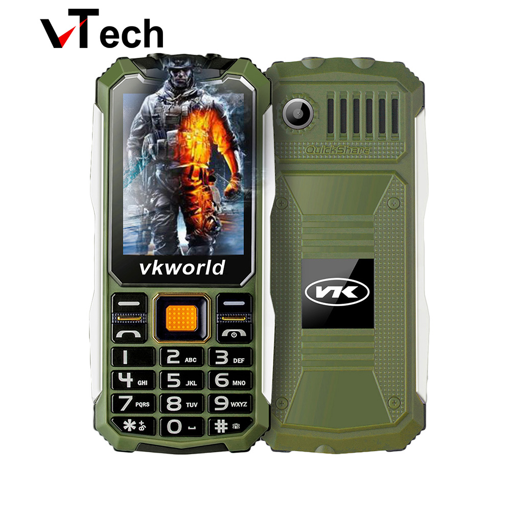 Original VKworld Stone V3S Phone Daily Waterproof Dustproof ShatterProof 2200Mah Long Standby Big BOX Speaker Dual