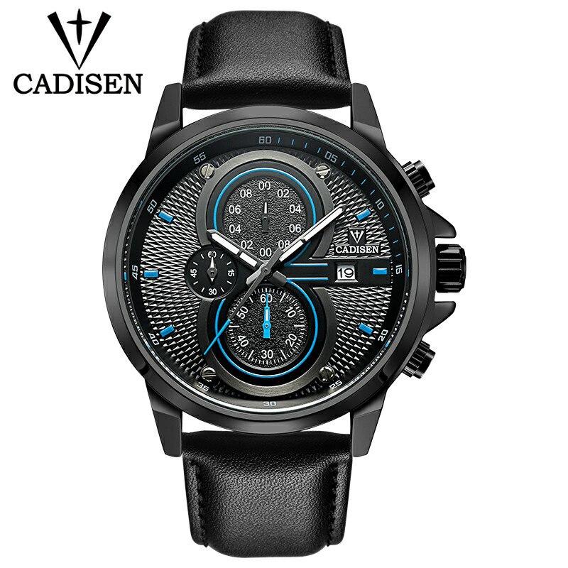 Mens Watches Top Brand Luxury Sports Quartz Military Watch Men Fashion Waterproof Chronograph Wristwatches Dropshipping CADISEN