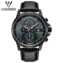 Mens Watches Top Brand Luxury Sports Quartz Military Watch Men Fashion Waterproof Chronograph Wristwatches Dropshipping CADISEN