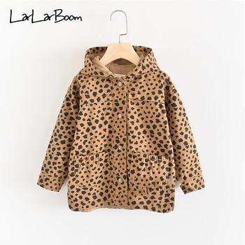 LarLarBoom Kids Jacket 2019 New Autumn Girls Leopard Print Hooded Tops Outerwear Children Clothes Pocket Long Sleeve Boys Coats