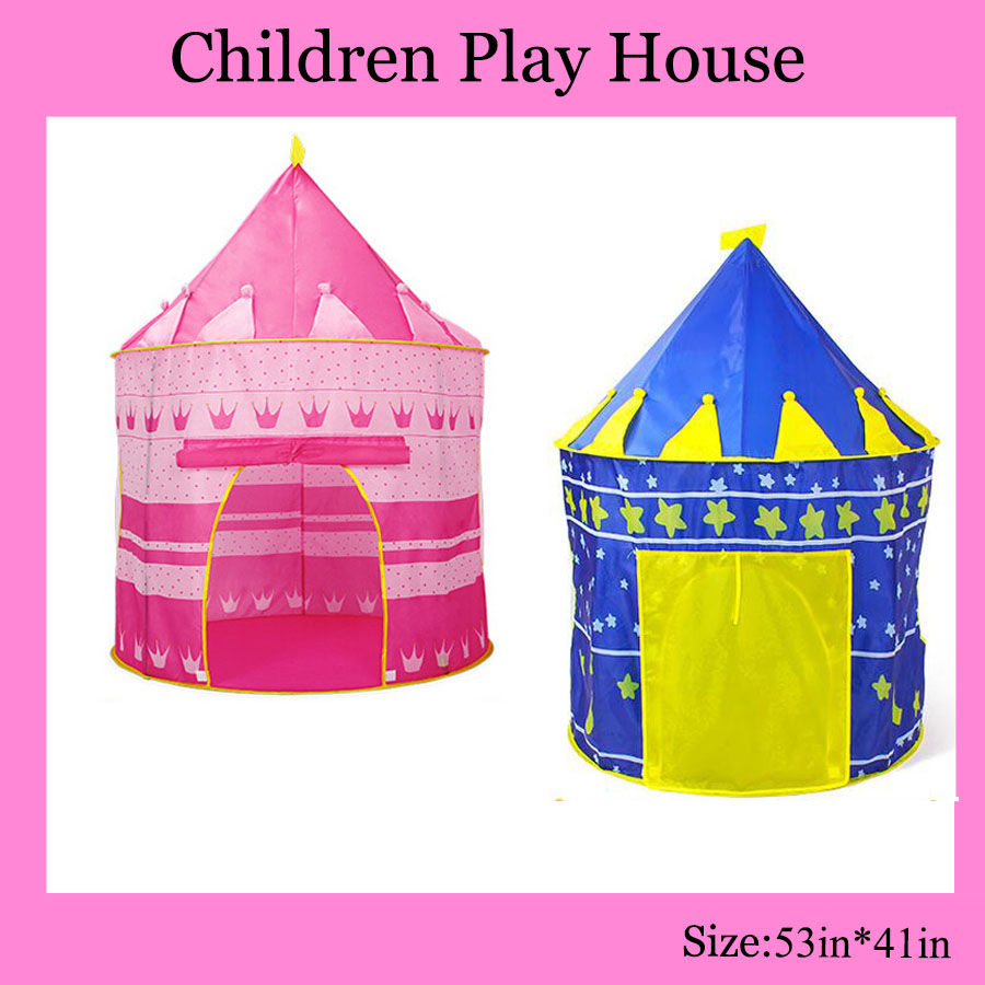 B002 Children Beach Tent, <font><b>Baby</b></font> Toy Play Game House, Kids Princess Prince Castle Indoor Outdoor Toys Tents Christmas Gifts