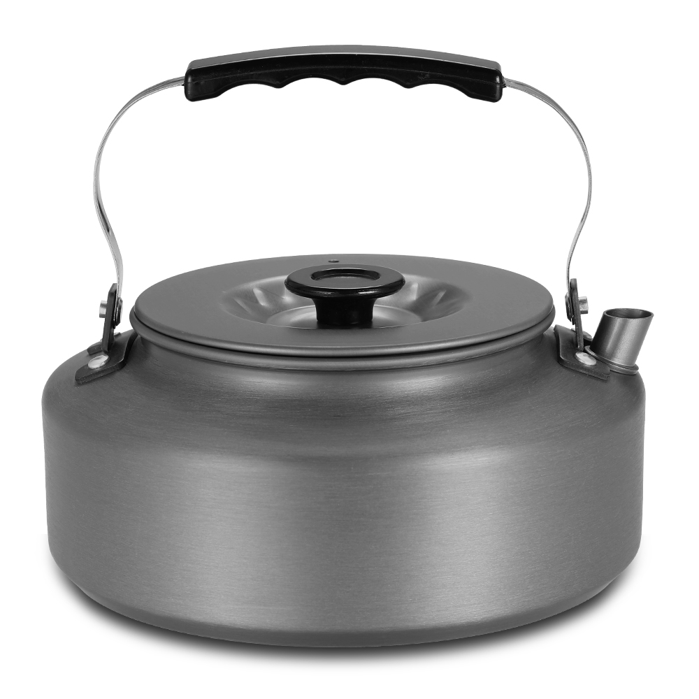 1.6L Portable Aluminum Alloy Kettle Cookware Outdoor Camping Pot Whistling Water Tea Kettle Camping Hiking Travel Coffee Pot