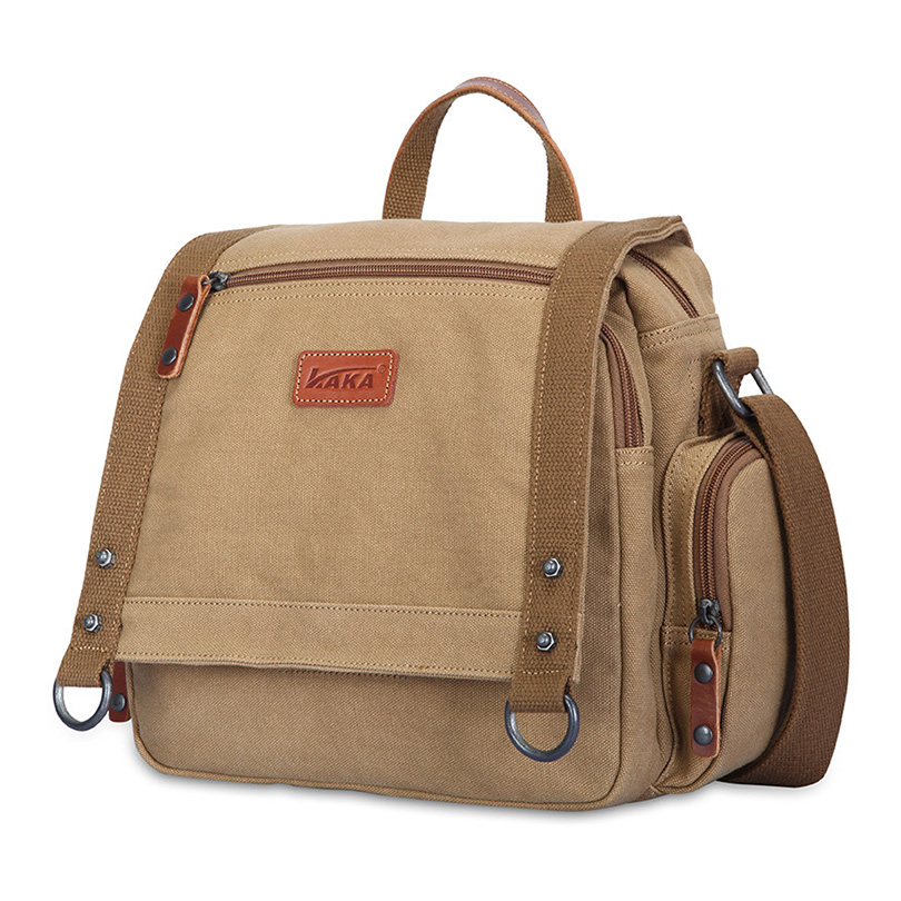 KAKA New Fashion Travel Messenger Bag Student Crossbody Single Strap Bags High Quality Men's Casual Shoulder Bag for Boys Girls