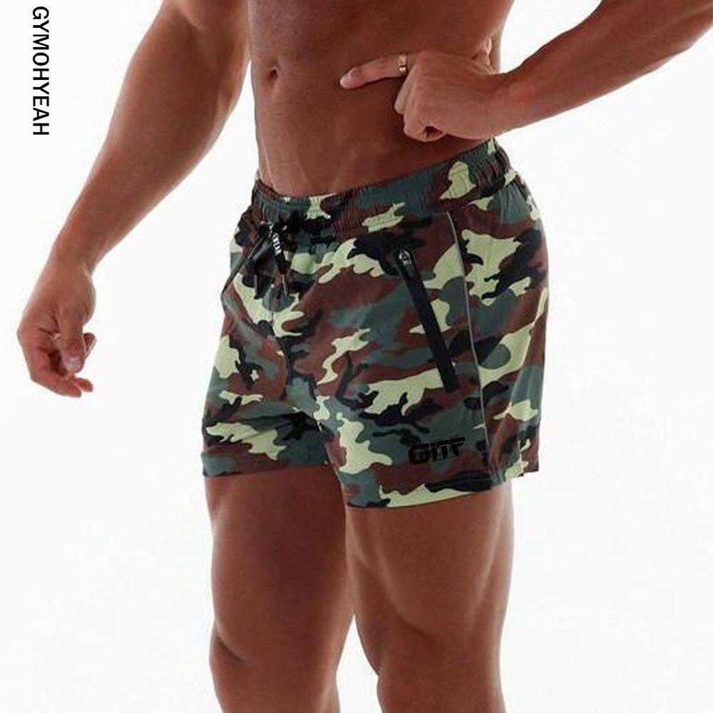 2019 New Camouflage Shorts Mens Military Style Casual Shorts Men's Summer Beach Shorts Fashion Streetwear Elastic Waist Shorts