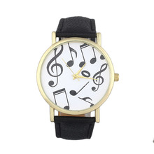 Women's watches Relogio feminino 2017 Saat Casual Musical Notes Women Men Leather Band Analog Quartz Di Wrist Watches for women