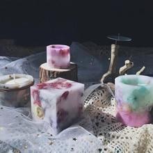 Smokeless Fragranced Wax Candles Decorative White Flameless Scented Birthday Wedding Decoration Vela Aniversario 50KO379