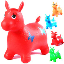 Rides on Animal Bouncy Horse Toys Inflatable Bouncer Jumping Child Inflatable Rubber Baby 60*52*28cm Random send