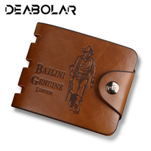 2019 Hot Sale New Mens Wallet Retro Soft Mini Large Capacity Buckle Short paragraph  Premium With Coin Bag