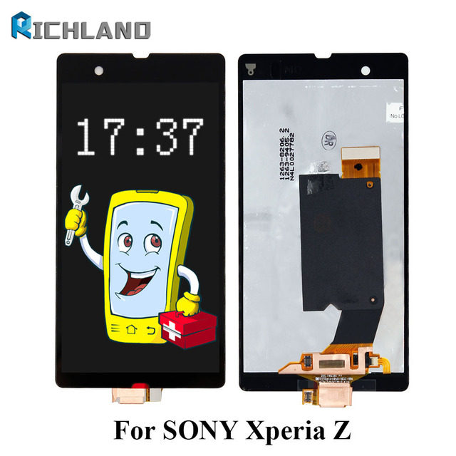 All Tested For Sony Xperia Z L36h L36i C6606 C6603 C6602 C6601C660X LCD Display touch screen digitizer Full Assembly with frame