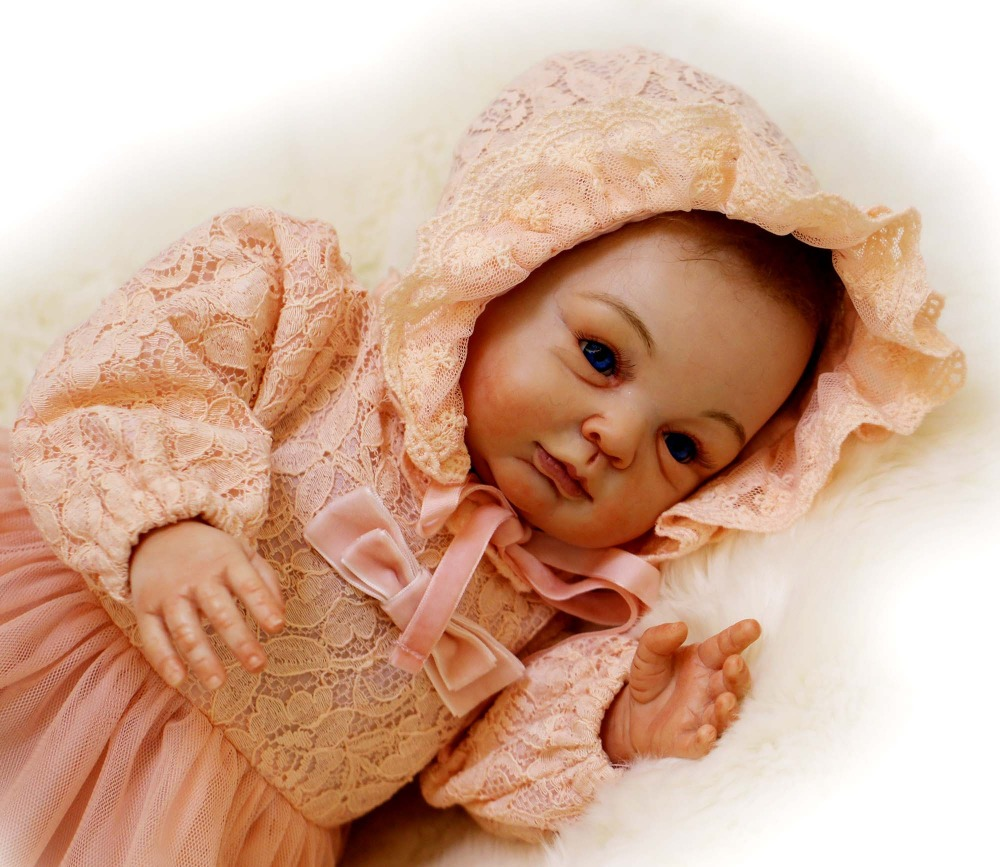 22 baby reborn dolls high end handmade real skin soft touch silicone newborn babies dolls creative
