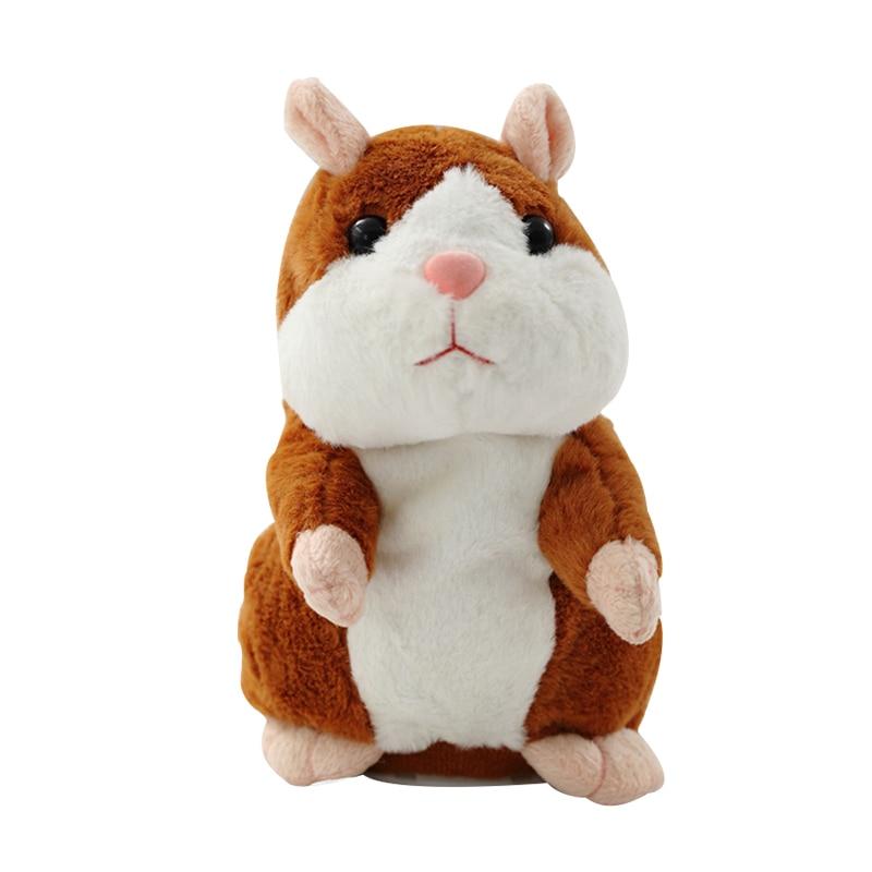 Talking Hamster Mouse Pet Christmas Toy Speak Talking Sound Record Hamster Educational Plush Toy for Children Christmas Gift