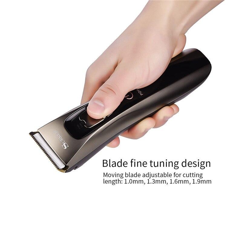 Offre spéciale Surker Sk-629 professionnel tondeuse à cheveux électrique tondeuse à cheveux Rechargeable Machine de coupe de cheveux étanche Fo - 4