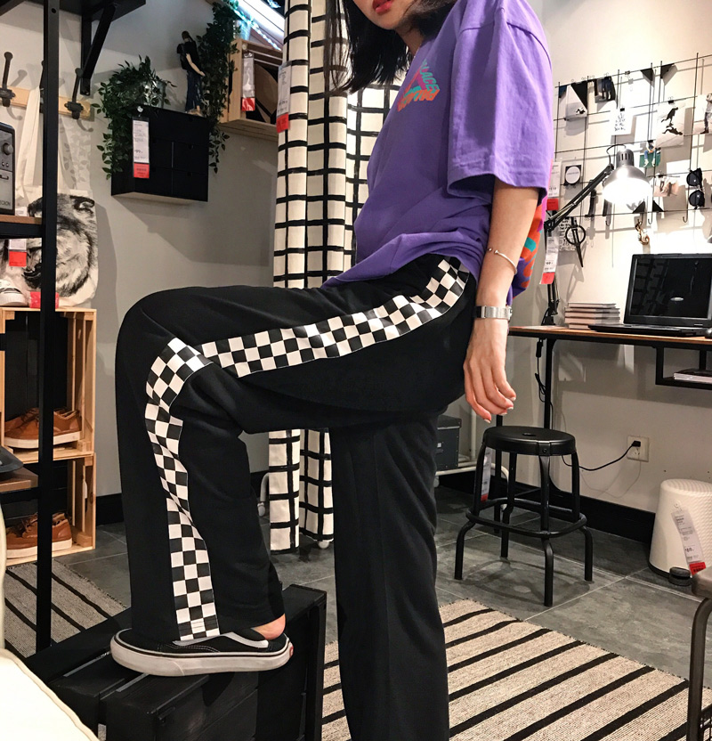 HTB1FD1VSFXXXXbSXFXXq6xXFXXXX - Checkerboard Pants Punk Black White Squares Cool  Street Trouser JKP003