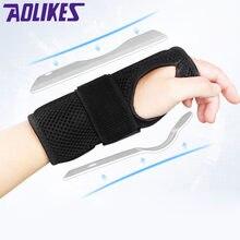 Aolikes splain splain artrite bracer cinto túnel carpal mão suporte de pulso cinta útil malha respirável bandagem pulso protecto