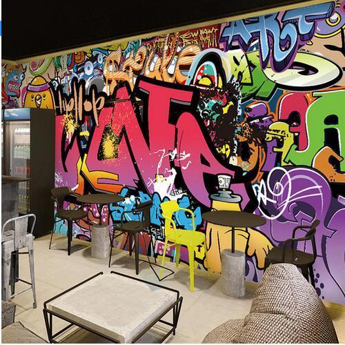 Free Shipping Large Mural Bar Corridor Background Wallpaper Cafe
