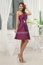 free shipping 2014 new design short gowns brides maid dresses vestidos formales purple taffeta Custom size evening dresses micromax x2400 синий