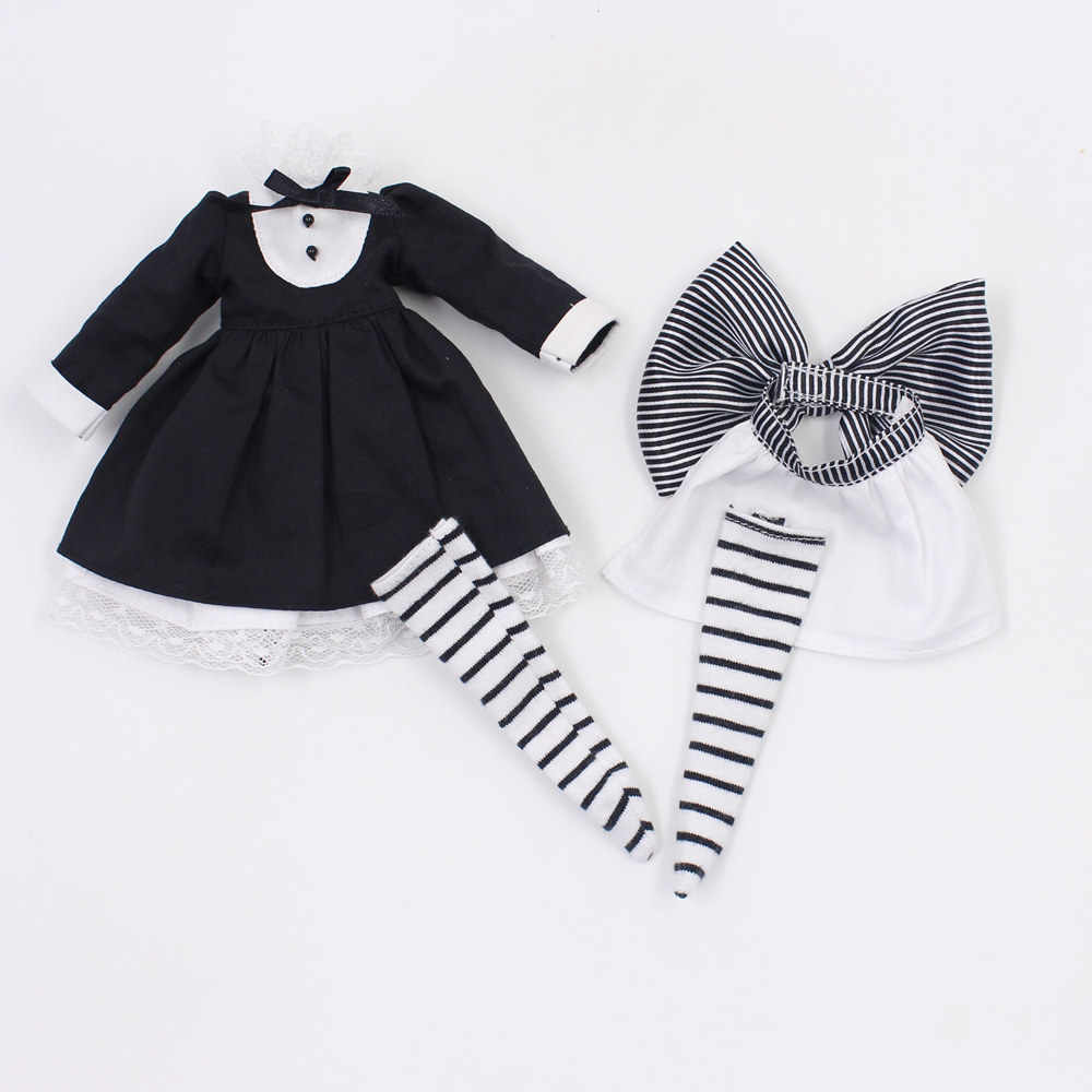 blyth doll clothes for black cosplay suit it suitable for 1/6 doll, normal doll, joint doll, icy, jecci five