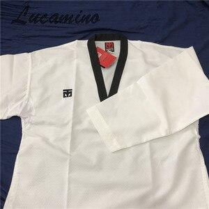 Image 4 - Süper hafif Taekwondo Dobok Mooto Taekwondo eğitmen giyen yüksek hızlı kuru Ultra hafif eğitim üniforma nefes üniformaları