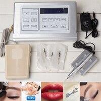 tattoo Gun Professional Digital Tattoo Machines kit Permanent Makeup Eyebrow Lip Pen Tattoo gun skin care Foot Pedal machine