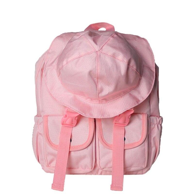 2018 nouveaux sacs d'école pour les adolescentes toile personnalisé sac à dos voyage mignon pêcheur chapeau fille épaule sac