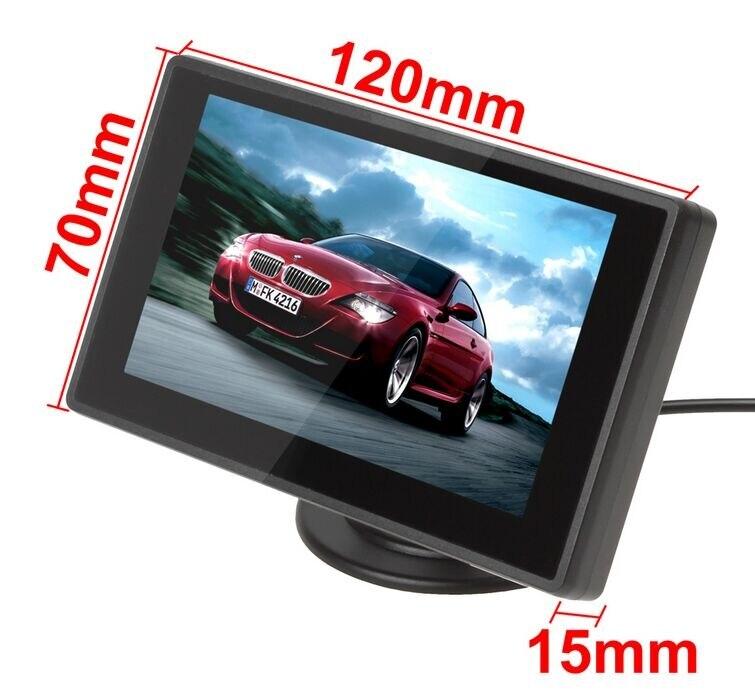 XYCING 4,3 Zoll Farbe TFT LCD Auto Rückansicht Monitor Auto Backup Parkplatz-Monitor für Rückfahr Kamera DVD VCD