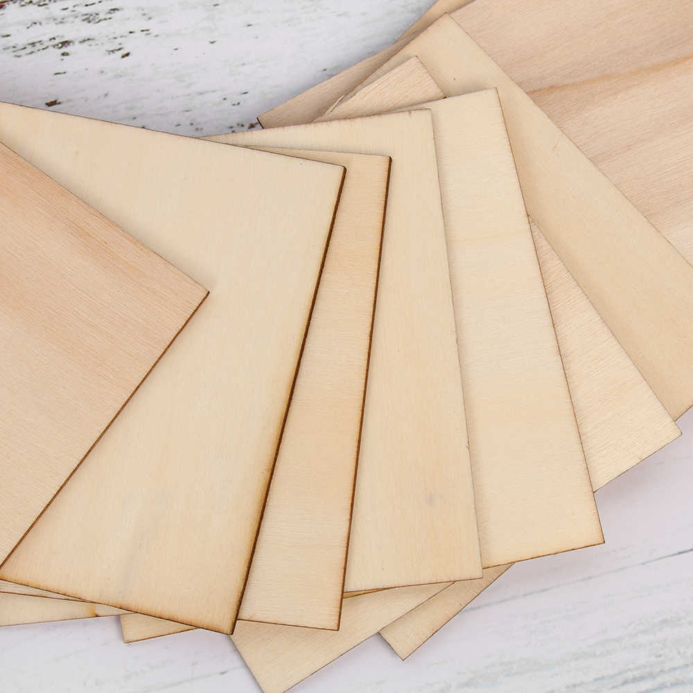 10Pcs/Bag Wooden Plates for Sand Table Plane Model Wood Sculpture Film Props DIY Crafts Material Supplies