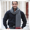 New 2016 Fashion Europe Winter knitting Men Scarf & wrap, long thick warm plaid scarves scarf male, Free Shipping
