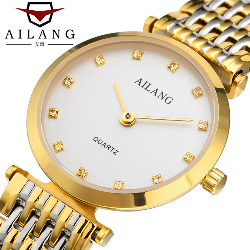 AILANG luxury ladies wristwatches 316L stainless stee gold silver black waterproof womens watches diamond top brand woman clocks top luxury wristwatches gold silver plated with austrian crystal ladies digital quartz watch waterproof drop shipping
