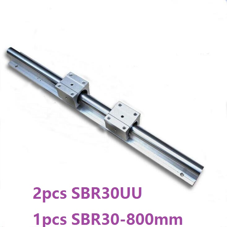1pcs SBR30 -L 800mm support rail linear rail guide + 2pcs SBR30UU linear bearing blocks for CNC parts1pcs SBR30 -L 800mm support rail linear rail guide + 2pcs SBR30UU linear bearing blocks for CNC parts