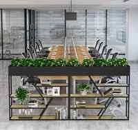 Tieyi partizione scaffale mensola del fiore semplice in legno massello soggiorno sala da pranzo ufficio vento industriale scaffale schermo decorativo