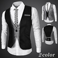 2016 Men's Slim Fit Dress Suit Vest Waistcoats Men Gilet Colete Fashion chaleco Hombre Autumn Spriing New Hot Sale