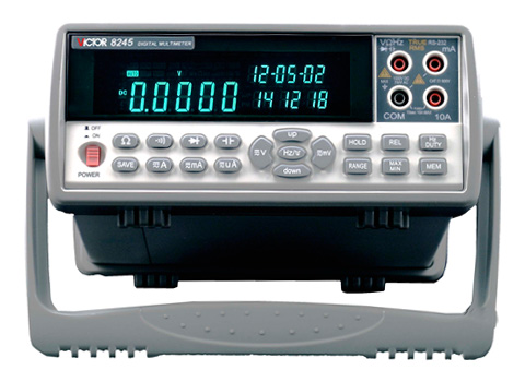 VICTOR 8245 VC8245 4 1/2 Bench desktop display with high precision digital MULTIMETER Ture RMS with USB interface victor lcd 4 1 2 digital multimeter vc9806