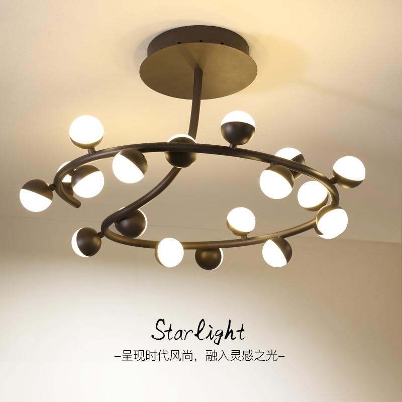 цена на Post-modern LED chandelier ceiling nordic deco lighting novelty fixtures living room hanging lights restaurant suspended lamps